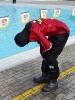 16.4.2013 provedli členové jednotky sboru dobrovolných hasičů z Děčína XI - Horního Žlebu nácvik a kontrolu funkčnosti suchých obleků pořízených v rámci projektu