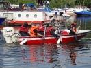 Výcvik a kondiční jízdy dobrovolných hasičů z Horního Žlebu v Praze na pracovním motorovém člunu MARINE 17 pořízeném v rámci projektu